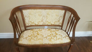 Victorian Antique Settee Sofa