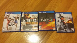 Jeux Sony Playstation 4 PS4 UFC, Battlefield, Project Cars