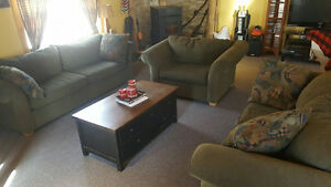 Sofa, Loveseat and Large Chair