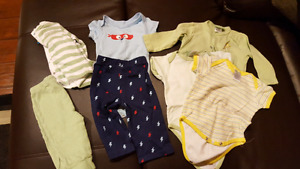 Baby boy clothes and swaddlers