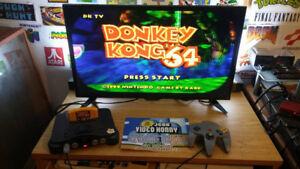 Nintendo 64 avec le jeux donkey kong