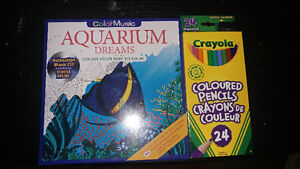 Colouring Book with Meditation CD and Pencil Crayons BRAND NEW
