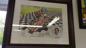 Mario Andretti Signed Print...well known issue