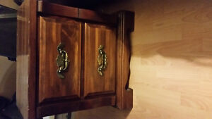 All included chest dresser night stand real wood
