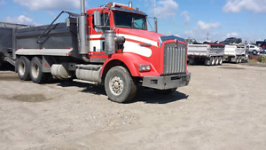 2006 kenworth t800 18speed & 2008 renn tri-axel pup for sale