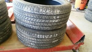 Pair of 2 Bridgestone Dueler HL400 (run-flat) 235/50R18 tires (6