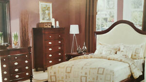 8 PCS QUEEN SIZE SOLID WOOD BED SUITE