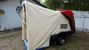 Tent trailer for motorcycle small car