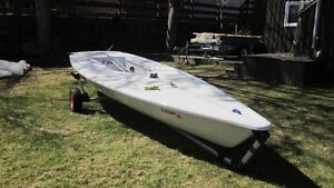 2011 Laser Performance Sailboat Race Package and Trailer