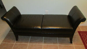 Italian Leather Bench Cambridge Kitchener Area image 1