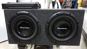 2-12'' Pioneer Subs with 1200 watt (peak) Amplifier