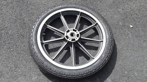 19 inch mag wheel for narrow glide - 3/4 in axel with new tire