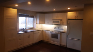 2 bedroom 1 and 1/2 bath. Leslie and finch