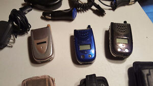 6 CELL PHONES WITH CASES & CHARGERS