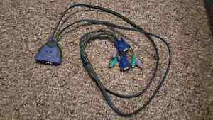 Linksys KVM switch with built in cables