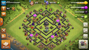 IOS Clash Of Clans TH9 70% Done