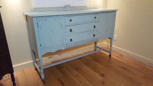 Vintage-style mint Credenza, Sideboard, Buffet table/storage
