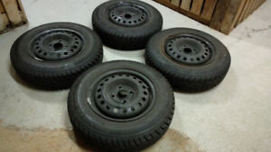 Winter tires with steel Rims: 155/80R13