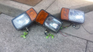 Snow Plow Lights, like new, round and square