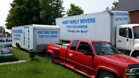 HUNT FAMILY  MOVERS   - WE MOVE FAMILIES ON THE MOVE