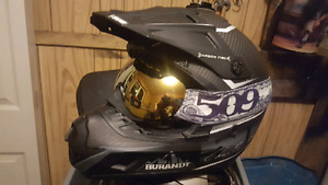 509 Chris burandt carbon fiber 2xl helmet and goggles