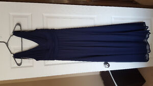 Navy blue grad/bridesmaid dress - XS only worn once!