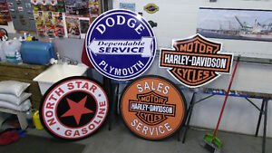 LARGE GASOLINE AND SKIDOO SIGNS