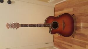 Left-Handed Ovation Celebrity Electro Acoustic Guitar (Used)
