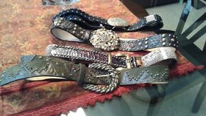 Leather Rock Belts $60- $120; sizes M-L