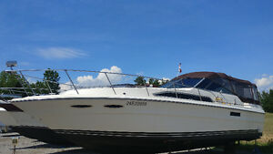 1986 Searay 340 Express Cruiser.  $18900