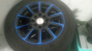 M+S 185/g/14 radial tubeless with rtx aluminum rims