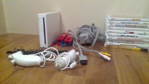 Wii Console with 10 games