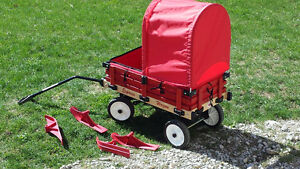 Millside Express wagon with canopy, ski's and padding