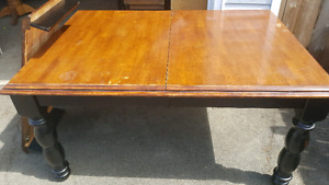 59X30X42 TABLE WITH LEAF.  DELIVERY IS EXTRA