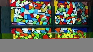 Stained glass mosaic vintage window Kingston Kingston Area image 1