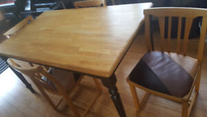 Solid wood dining room table set