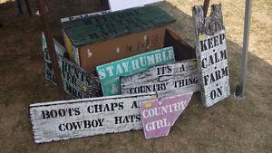 Barn Board Signs and coat racks Kingston Kingston Area image 10