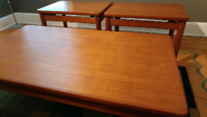 Mid Century Teak Coffee and End Tables