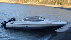 18 foot bayliner with 90 hp e-tec with less then 50 hours