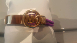 Michael Kors Gold plated and purple bracelet