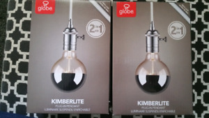 BNIB plug in pendant lights by Globe - 1 LEFT