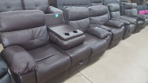 2 piece reclining couch and chair (couch includes console)