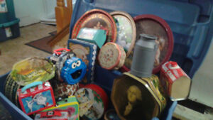 vintage large collection of tins