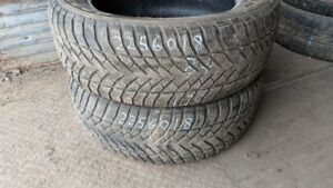 Pair of 2 Goodyear Eagle Ultra Grip 225/60R18 WINTER tires (75%
