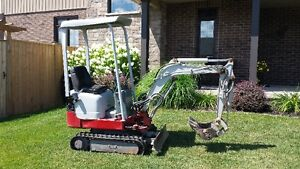 Takeuchi TB108 Excavator with 3500lbs Dump Trailer Plus Extras