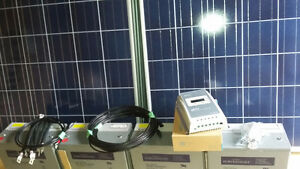 Complete solar power kits with inverter, batteries and panels