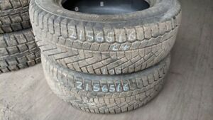 Pair of 2 Continental ExtremeWinterContact 215/65R16 WINTER tire