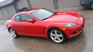 Red 2005 Mazda RX8 GT 6 speed manual