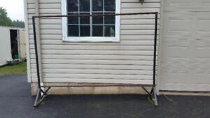 Rack made of steel tubing