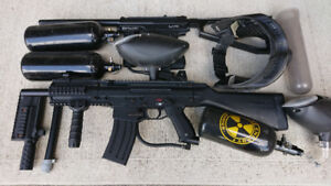 Paintball Gun Package - 2 rifles, accessories complete